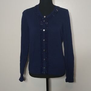Banana Republic Blouse Embellished Buttons Cotton